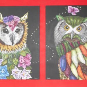 flower & vegetable Owl