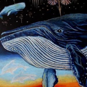 空飛ぶ花火クジラ