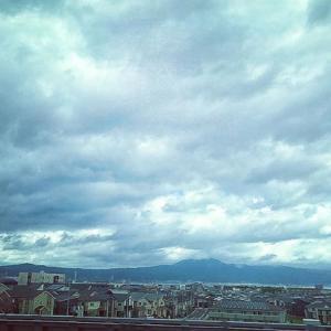 台風の後の雲は不思議️龍がいる?見えますか?(^^)