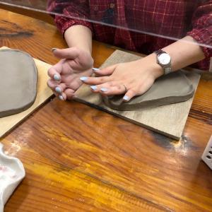 扇の陶芸皿