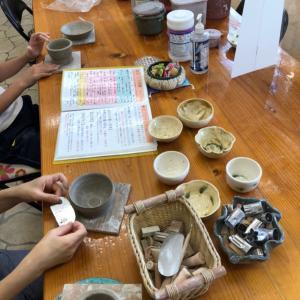 中学男子とママ陶芸