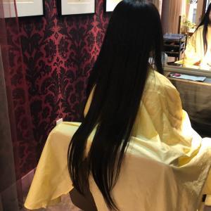 35cm娘の髪の毛をカット!ヘアドネーションをしてきました。