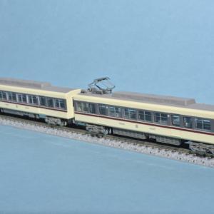 富山地方鉄道ありがとうモハ10020型が入線しました。
