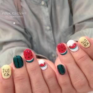 爪先可愛い☆彡果物ネイル♡