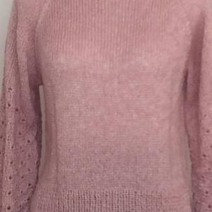 春のピンク色のセーター 完成   おいなりさん
