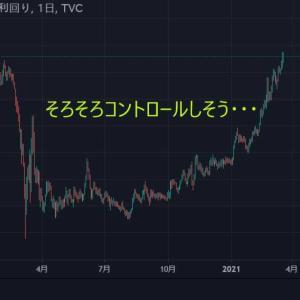 ★米10年国債利回り・・・ そろそろ本気でイールドカーブコントロールしそう・・・