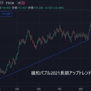 ★今週もドル円(*_*;月曜窓空け予想を・・・ インフレ緩和バブル2021ドル円堅調・・・