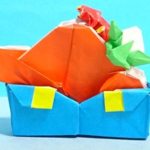 マリオ帽のパンケーキサンド(折り紙作品)