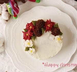 生クリームが苦手♡そんな方に、あんクリームチーズはいかが?♡クリスマスケーキ