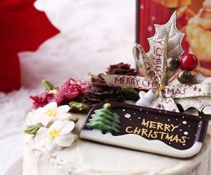 クリスマスあんケーキに付ける小物が揃いました♡メッセージチョコと飾り♡