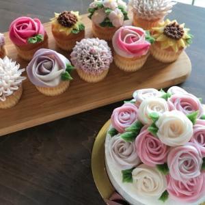 【ディプロマ講座】可愛いお花を作りましょう♡あんケーキ初級ディプロマ講座開催!