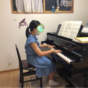 中学生さんとピアノ(*´︶`*)♡