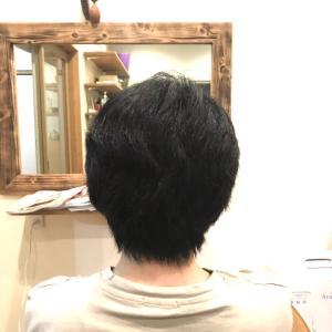 しっかりした髪質のお客様