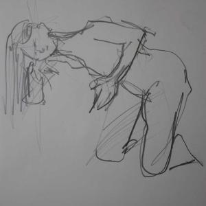 焦り気味に描いたポーズとか、美術モデル募集