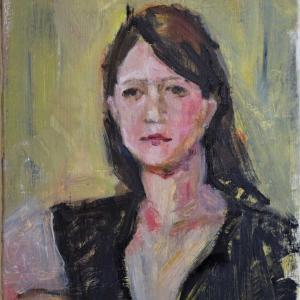 前回の、ポートレイトのみの油彩、美術モデル募集中