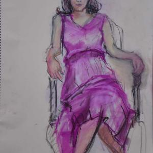 3枚描いたうちの2枚目、美術モデル募集中