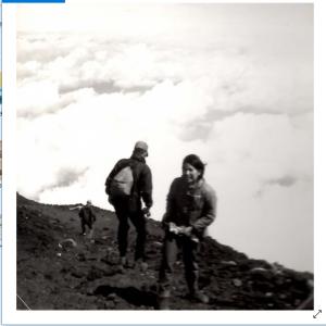 昔の富士登山の写真