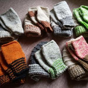 手編み 帽子&手袋