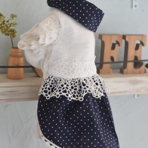 サマーニットの布で手作りわんこ服