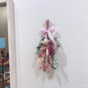 和光市で人気の可愛いヘアサロン「キートス(kiitos)」にも春色スワッグ♪