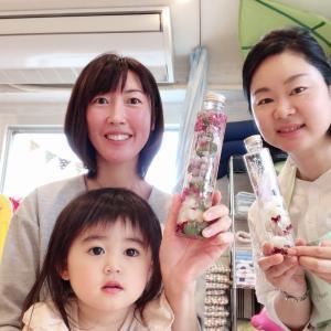 赤ちゃん連れママもハーバリウム体験を♪素敵な親子カフェで楽しめます!【和光市朝霞花教室】