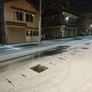 12月28日温泉街の道路状況
