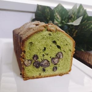 「抹茶としっとり甘納豆のパウンドケーキ」