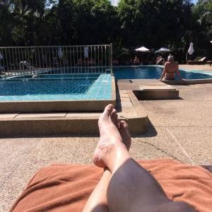 ★今日はホテルのプールでのんびり