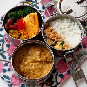 インド風さばカレー弁当。