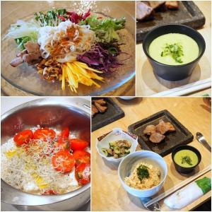 夏野菜で彩り和え麺。@海月+1vege料理教室