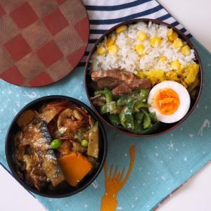 negomboレシピの野菜カレー弁当。