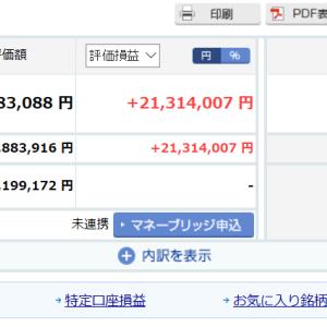 再び投資資産1億円を突破!