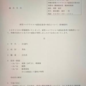 新型コロナウイルス(10月16日)