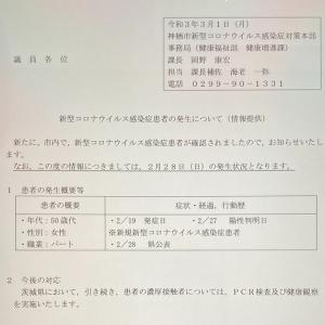 新型コロナウイルス(3月1日)