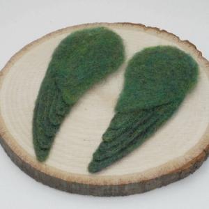 サザナミインコ グリーン の制作 / その6 - 翼を作る