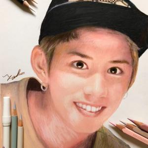 ONE OK ROCK タカさんを色鉛筆で描く♡♡