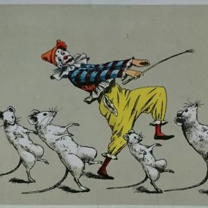 絵葉書・・・ピエロと踊るネズミたち