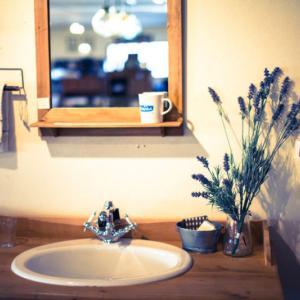 スッキリはしていないけれど使いやすさは意識している洗面所と洗面台収納