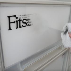 Fits収納ケースのロゴを消してスッキリ化