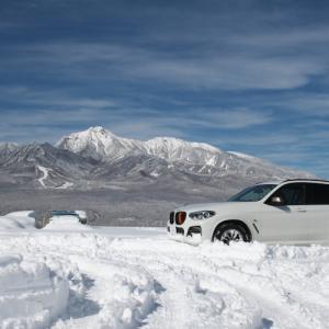 早速、X3-M40dと雪のドライブを楽しみます。