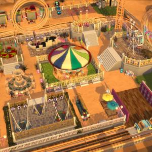 遊園地MOD!千鳥&キングダム一家が遊ぶんじゃ~!爆笑アトラクションは必見【Sims4】【シムズ4】【MOD】