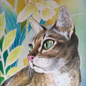 絹に描く猫似顔絵イメージアート 特別編