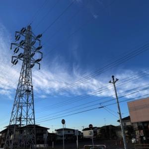 送電線のある風景 25 * 送電線と朝の空