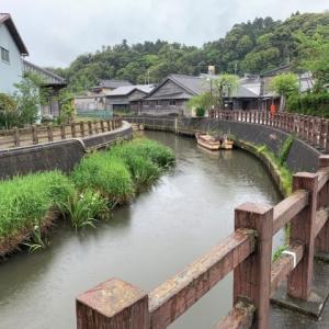 佐原の古い町並み 4 * 雨の小野川
