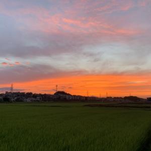 帰宅途中の夕空