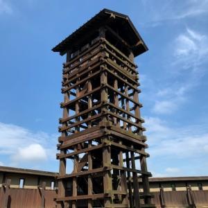 逆井城跡公園 3 * 井楼矢倉と土塁