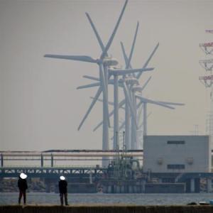 沢山の風車
