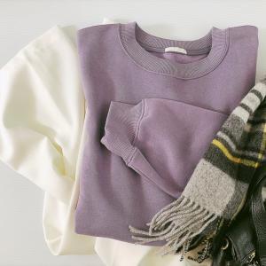 【GU】秋にぴったりのキレイ色♡くすみパープルスウェットで差をつける今っぽカラーコーデ術