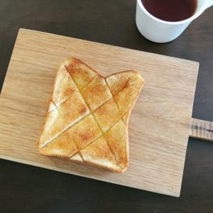 「食パン」で激旨シナモンシュガートースト。見た目も味も美味しくする方法