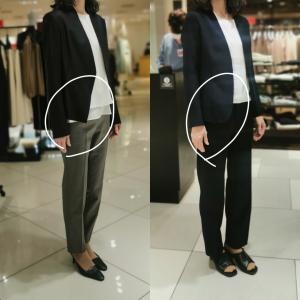 似合うビジネススーツとパンツの形が知りたい♪ ~同行ショッピング~